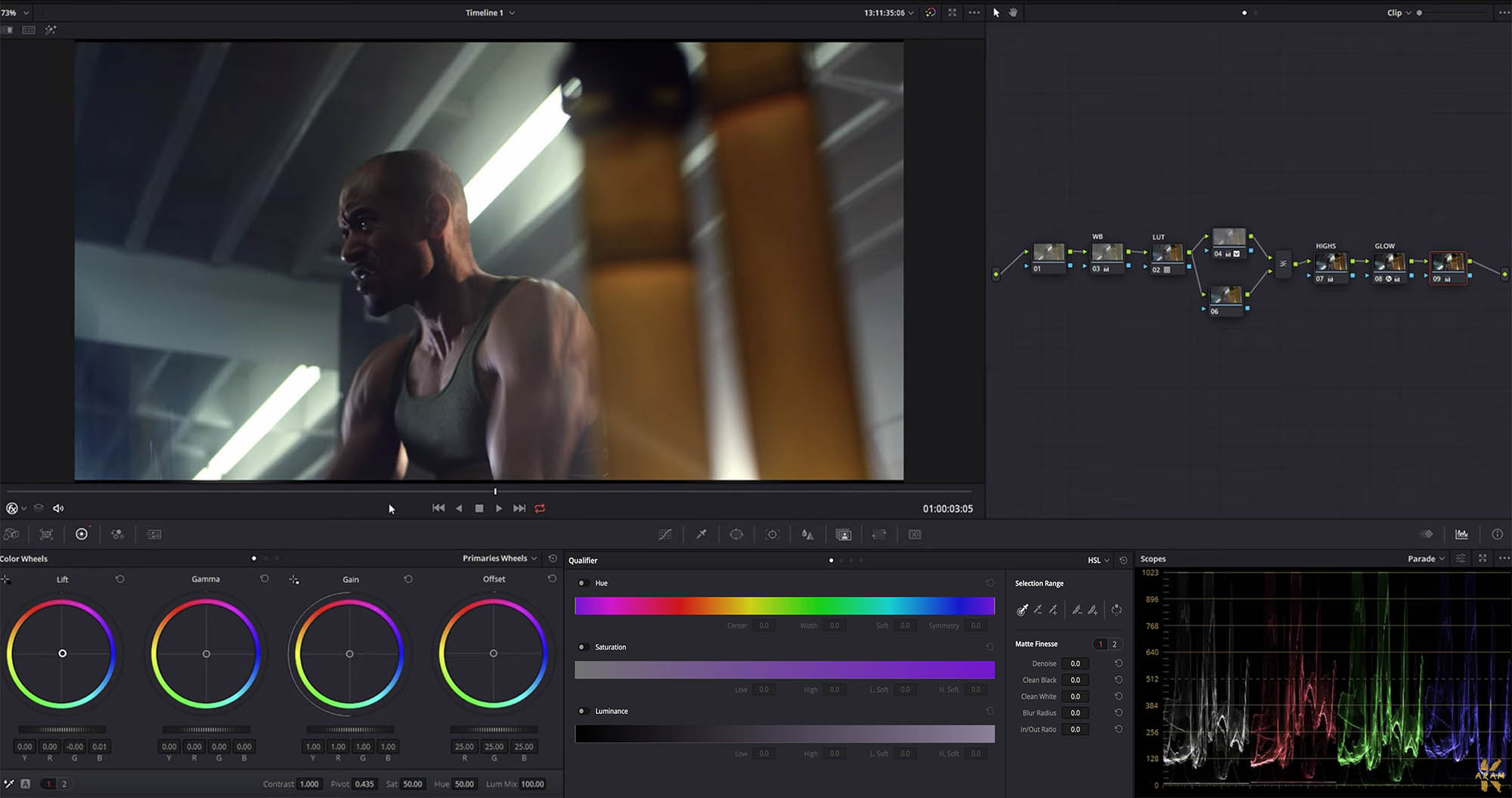 Creating a high-end commercial look in Davinci Resolve